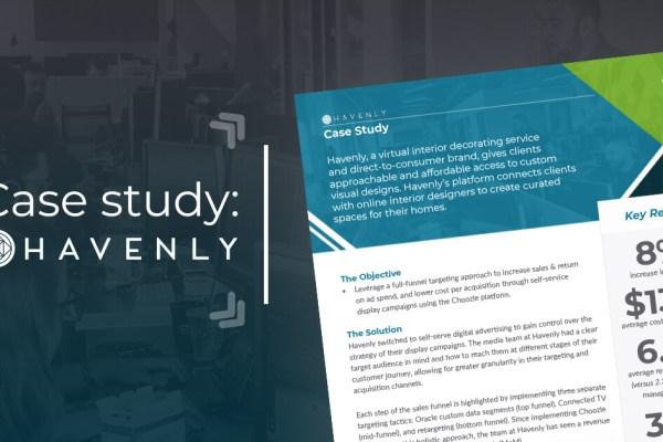 digital marketing case study self serve advertising case study havenly