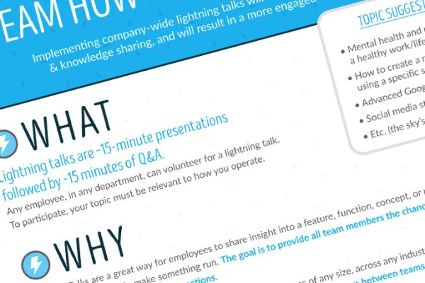 Team How-To: Lightning Talks Printable