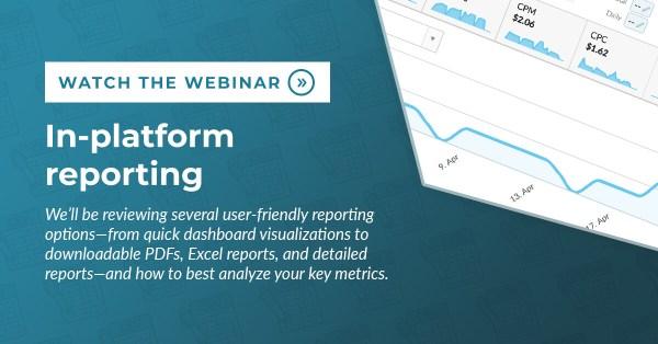 In Platform Reporting Webinar blog post