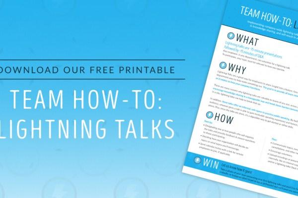 Choozle How-To: Lightning Talks Printable Download
