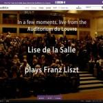 ゴージャスでエキゾティックなリスト、リーザ・デ・ラ・サールのリサイタルがインターネット生中継。