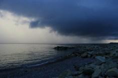 angry skies and calm sea