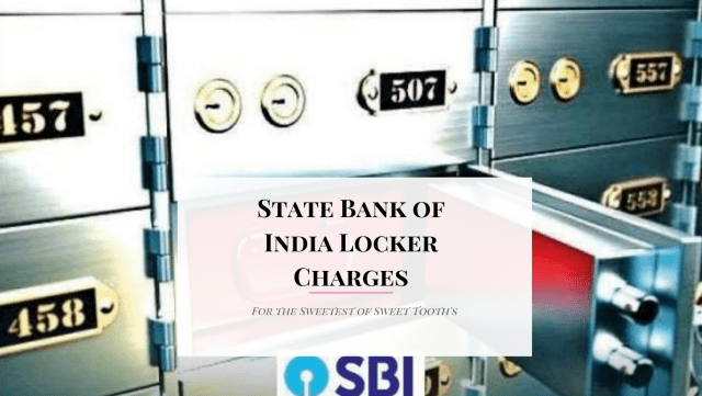 State Bank of India Locker Charges