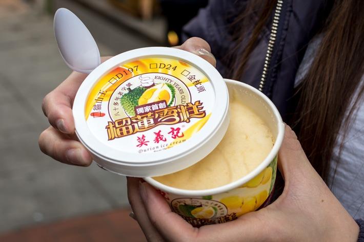 Macau Durian Ice Cream