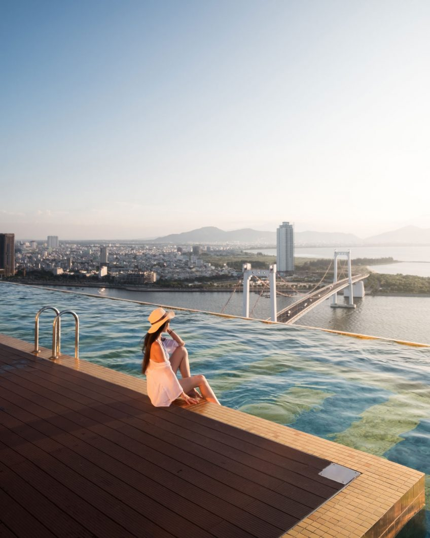 Danang Golden Bay infinity pool
