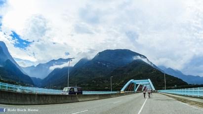 Taroko National Park on the left