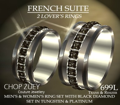 Ring Set in Black Diamonds