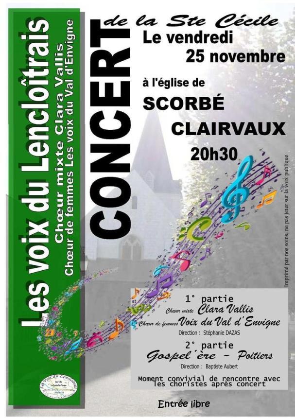 Concert de gospel gratuit le 25 novembre près de chatelleraut et de Poitiers ! Chorale Gospel'ère