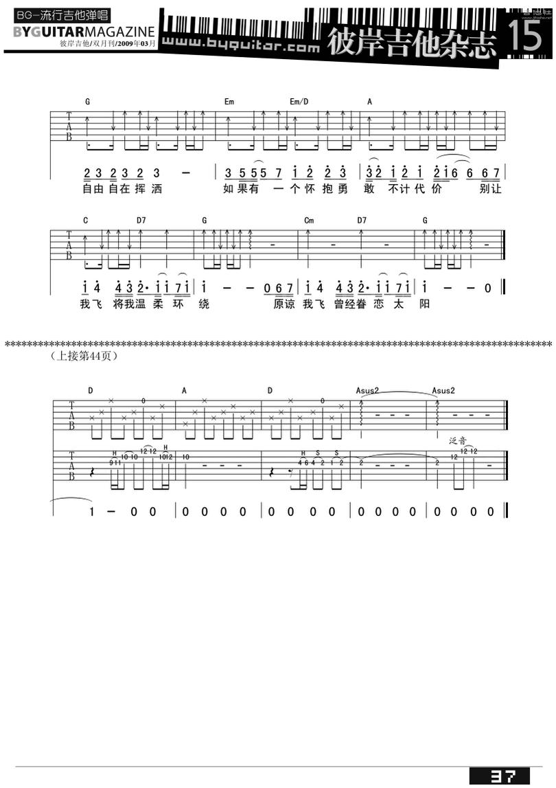 魚 - 陳綺貞 - 吉他譜 - Chord4