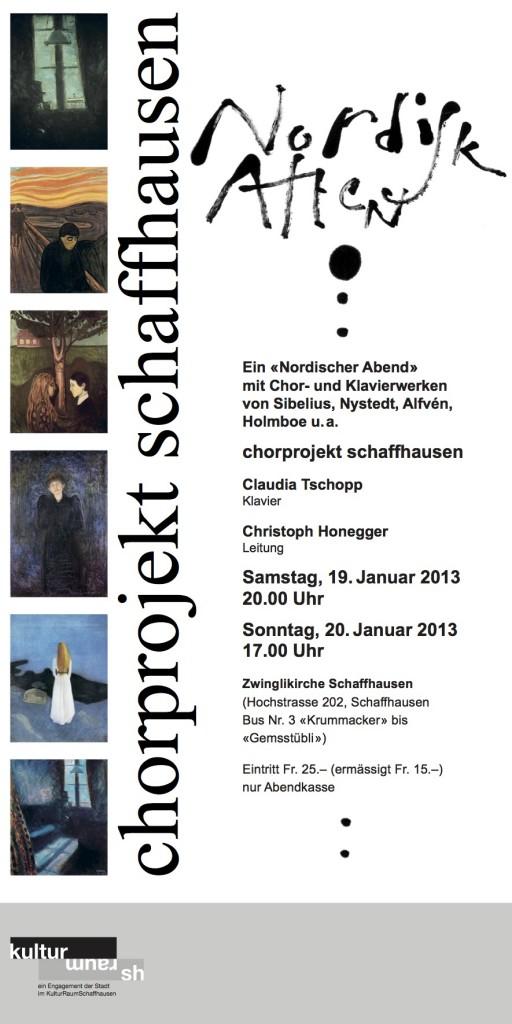 19/20.1.2013: Zwinglikirche, Schaffhausen