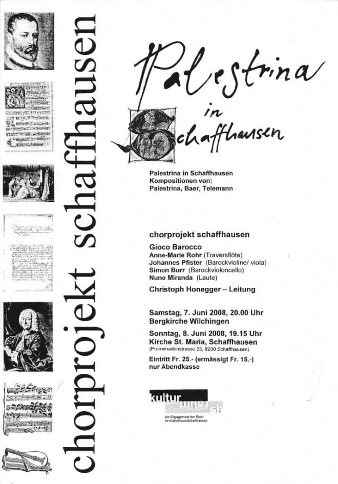 20080607 Palestrina Flyer