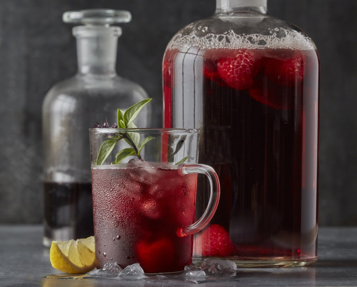 Photo by Dennis Becker, food styling by Lisa Golden Schroeder • Special to the Star TribuneRaspberry hibiscus sparklers