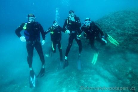 Potápění v Chorvatsku na Verudě