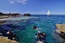 "Po ponoru v ""bazén"" u ostrova Veruda"