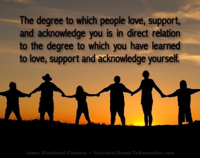 Inspirational Quotes about Love by James Blanchard Cisneros, author of spiritual self help books.