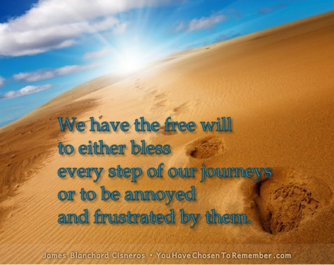 Inspirational Quotes about Choices by James Blanchard Cisneros, author of spiritual self help books.