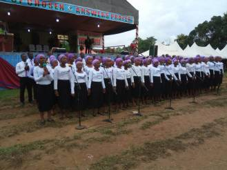 Youth Choir Ministering to the congregatioin