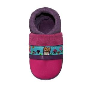Les chaussons en cuir souple bebe fabrication française ruban Chouette Chouballon
