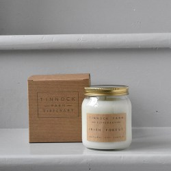 smelling soy candle - Irish forest