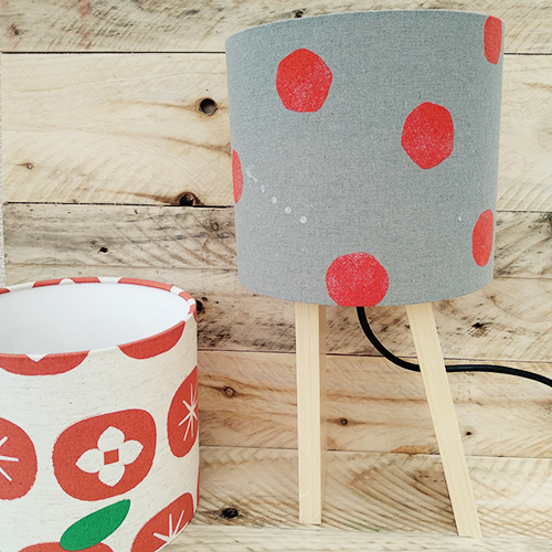 apple-lampshade-grey-red-dots
