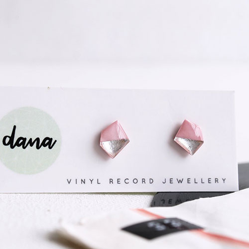 Pink and silver stud