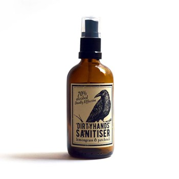 Hand sanitiser Lemongrass and Patchouli from Literary Lip Balm 100ml