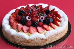 tarte legere aux fruits rouge