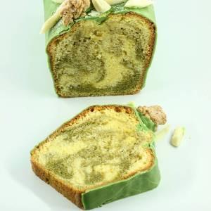 Cake marbré thé Matcha