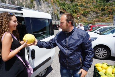 Amalfi coast, Italy. He gave me a lemon. 😂