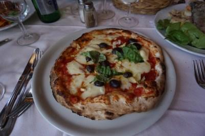 Margarita pizza in Italy.