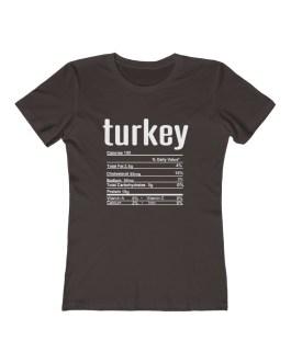 Turkey Nutritional Facts – Women's The Boyfriend Tee