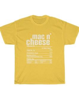 Mac n' Cheese – Nutritional Facts Unisex Heavy Cotton Tee RPL