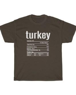 Turkey – Nutritional Facts Short Sleeve Tee