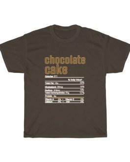 Chocolate Cake – Nutritional Facts Short Sleeve Tee