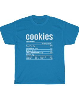 Cookies – Nutritional Facts Unisex Heavy Cotton Tee