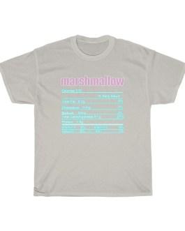 Marshmallow – Nutritional Facts Unisex Heavy Cotton Tee