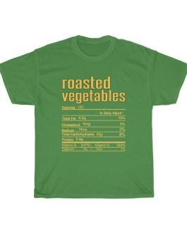 Roasted Vegetables – Nutritional Facts Unisex Heavy Cotton Tee