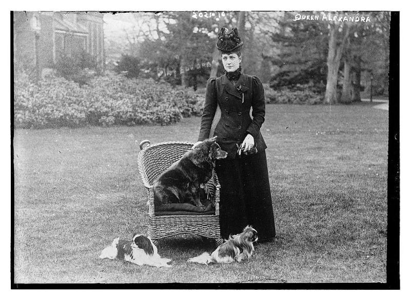 QUEEN ALEXANDRA WITH CHOW PLUMPIE
