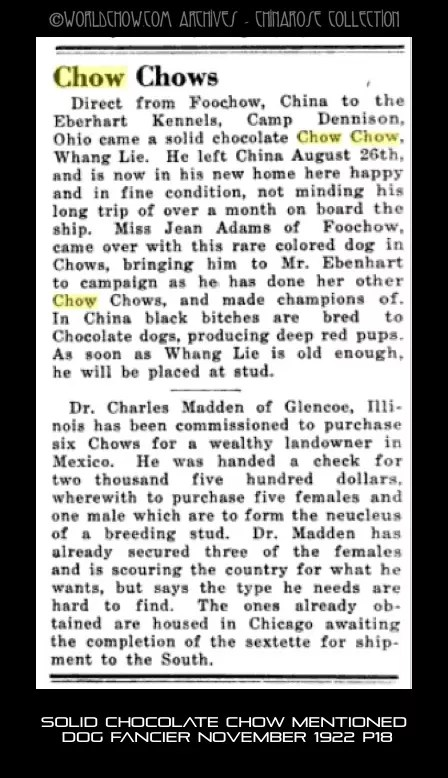 I found this in Dog Fancier nov 1922 p18