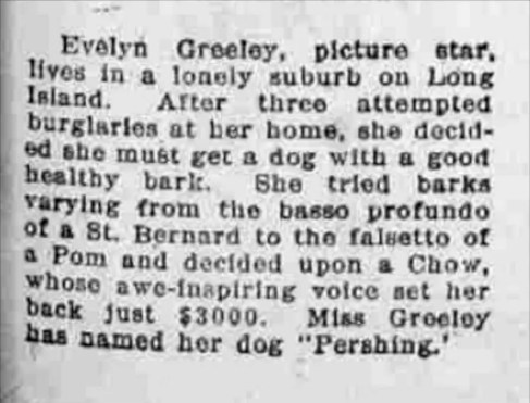 NEWS ARTICLE FROM 1919