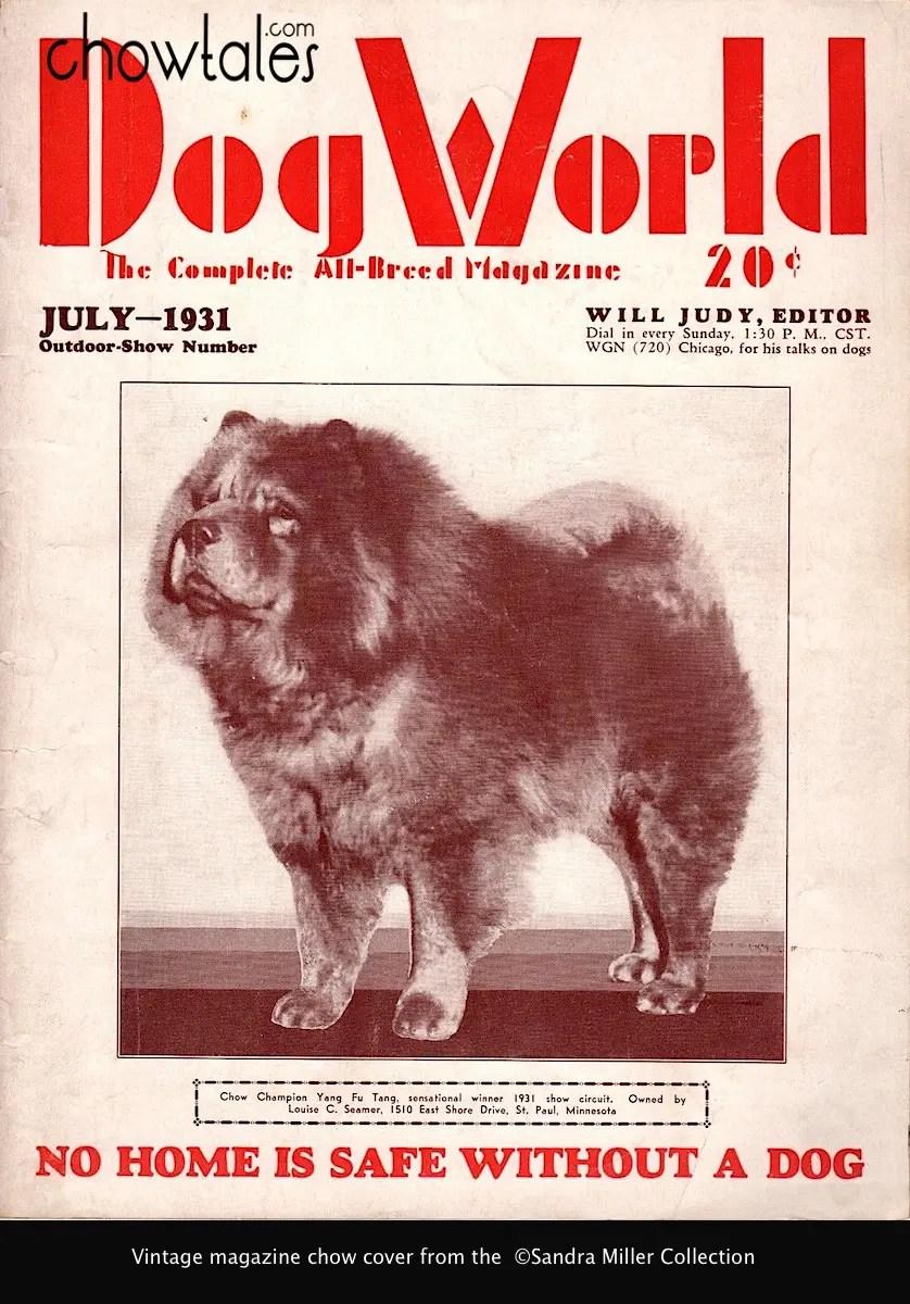 DOGWORLD JULY 1931 YANG FU TANG