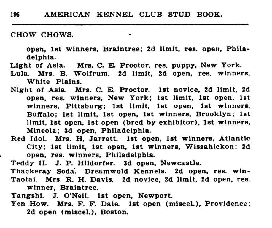 AKC 1905 STUD BOOK3