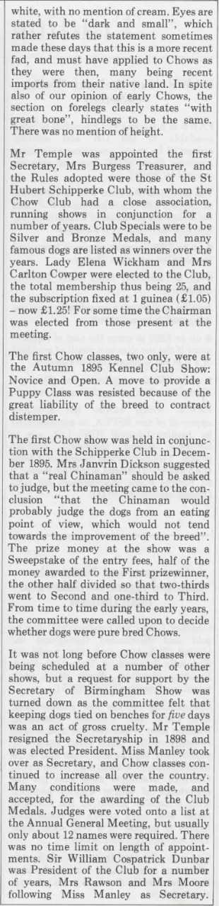 P-1-B Kennel Gazette Feb 1985 founding of Chow Chow Club UK - Version 4