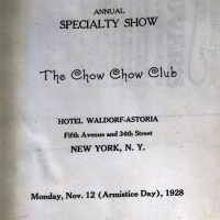 1928 Chow Club National Specialty marked catalog