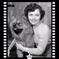 1950's  –  German Actress Sonja Ziemann and her Chow