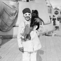 CIRCA 1914 -CHOW MASCOTS  OF THE ROYAL NAVY WW1
