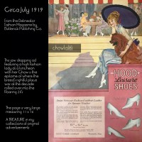 1919 Delineator Magazine – Hood Shoes Advertisement with Lady and Chow