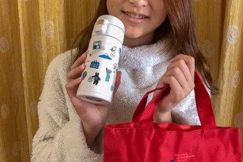 Gaspard et Lisa 環遊日本 JAL國內線逸品 保溫水壺 聯名便當袋