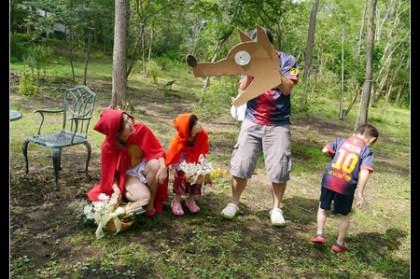 輕井澤繪本之森美術館 繆思之森 變身繪本主角