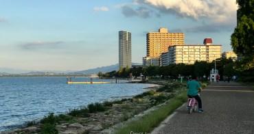 滋賀大津 琵琶湖畔コーヒーハウス ショコラ 腳踏車青春放送 搭乘JR西日本+台灣虎航 暢遊關西地區